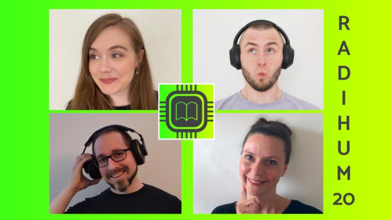 RaDiHum20 - das Radio für Digital Humanities! Dahinter stecken Jonathan Geiger, Lisa Kolodzie, Mareike Schumacher und Patrick Toschka. #DigitalHumanities #WissKomm #Podcast
