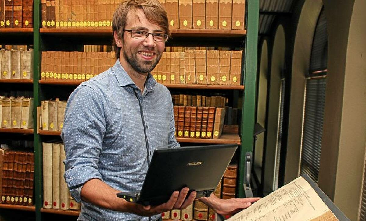 Timo Steyer, Convenor der AG Digitales Publizieren. #DigitalHumanities #WissKomm #Podcast