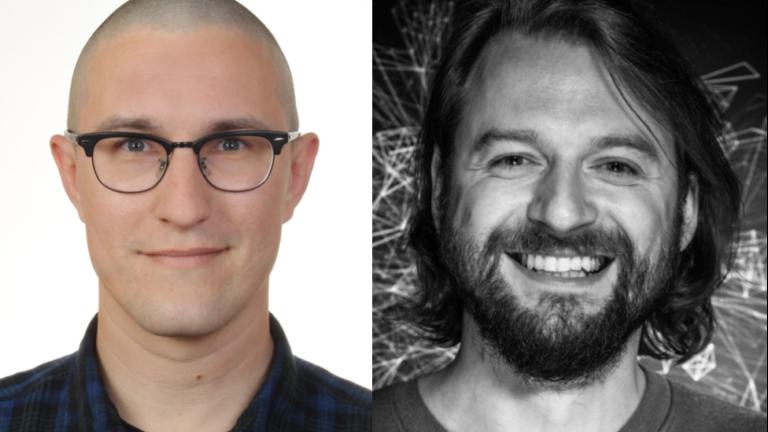 Stephan Druskat und Alexander Czmiel von der AG Research Software Engineering