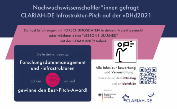 vDHd2021 bei RaDiHum20: Der CLARIAH-DE Best Pitch Award