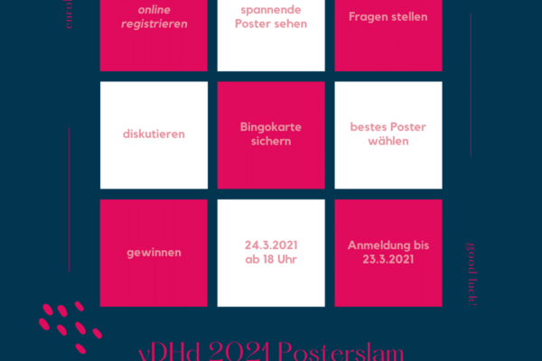 vDHd2021 bei RaDiHum20: Posterslam-Bingo